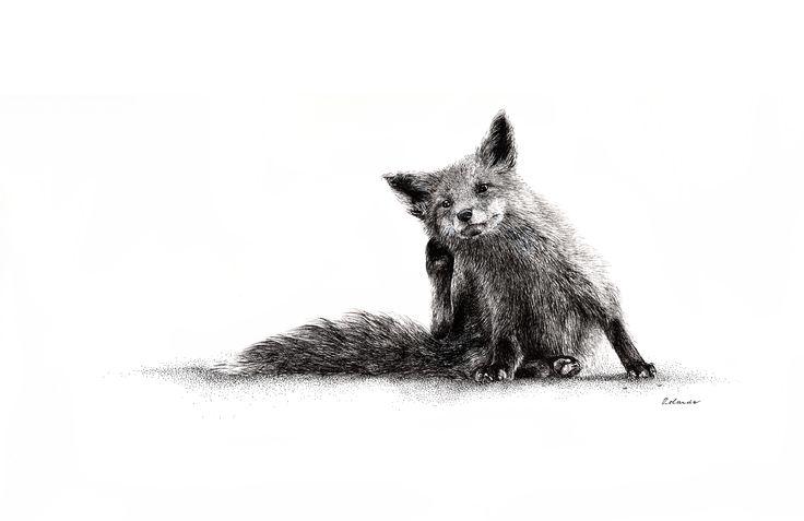 Baby fox - ORIGINAL / SOLD