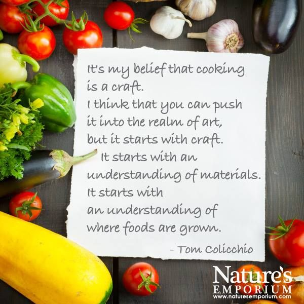 It's my belief that cooking is a craft. I think that you can push it into the realm of art, but it starts with craft. It starts with an understanding of materials. It starts with an understanding of where foods are grown. - Tom Colicchio - Nature's Emporium
