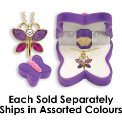 Butterfly Necklace in Butterfly Gift Box  $9.95 at Mastermind. (Ages 5 and up)