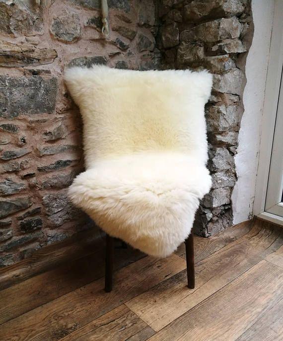 White Sheepskin Lambskin Goatskin Rug British