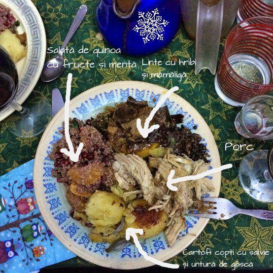Salată de cușcuș/quinoa cu fructeși mentă