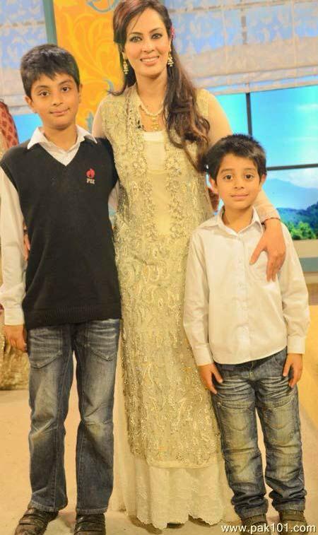 Farah hussain with kids