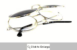 Flip-Top Round Sunnies Sunglasses - 298C