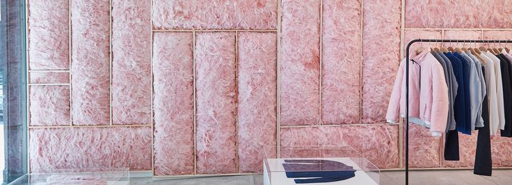 patrik ervell turns opening ceremony store in new york into a cloud of pink fiberglass foam