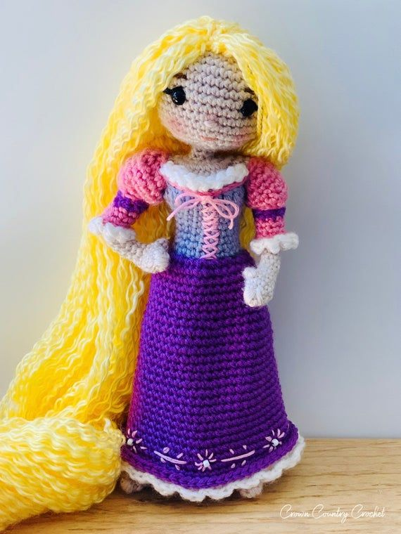 Ravelry: Rapunzel Princess Amigurumi pattern by Chiara Cremon | 760x570