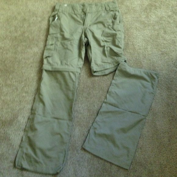 Columbia outdoor convertible pants Nearly new (worn once or twice) Columbia outdoor convertible pants. Bottom half of both legs zip off to convert pants to shorts. Size 12 in girls. Pants Track Pants & Joggers