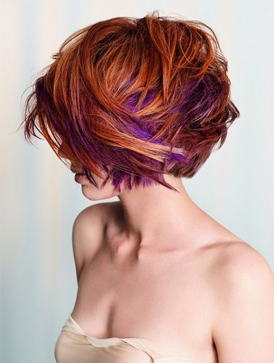 2014 summer hair | Hair color trends for spring summer 2014: brown purple color effect ...
