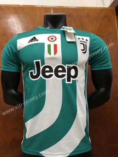 77c74ba1bc9 2018-19 Juventus Commemorative Edition Green Thailand Soccer Jersey ...
