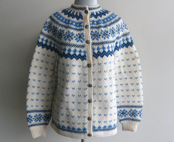Pattern: Slalåm 54. Label: Lulle Otterstad, Oslo, Handmade in Norway