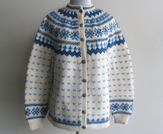 Pattern: Slalåm 54. Label: Lulle Otterstad, Oslo, Handmade in Norway