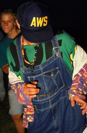 Ravers: late 1980s and 1990s; huge dance parties held called raves; dancers wore t-shirts, tie-dye, psychedelic prints, hippie-like elements; functional clothes like shorts, sneakers, and baseball caps