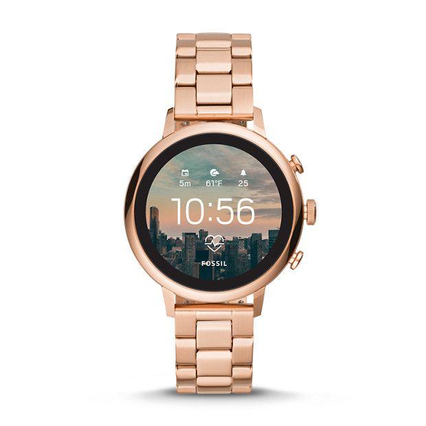 Gen 4 Smartwatch Venture Hr Rose Gold Tone Stainless Steel Smart Watch Silver Pocket Watch Fashion Watches