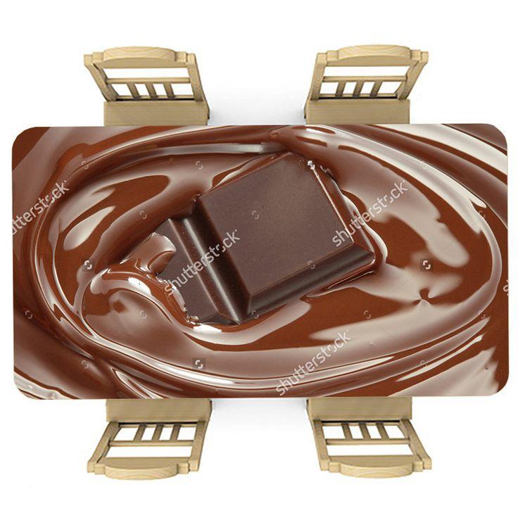 Tafelsticker Chocolade | Maak je tafel persoonlijk met een fraaie sticker. De stickers zijn zowel mat als glanzend verkrijgbaar. Geschikt voor binnen EN buiten! #tafel #sticker #tafelsticker #uniek #persoonlijk #interieur #huisdecoratie #diy #persoonlijk #chocola #chocolade #lekkernij #voedsel #eten #lekker #bruin #keuken