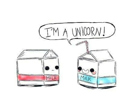im a #unicorn!!! #milk this is so cute!