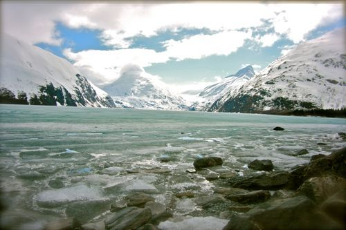 Portage Glacier – South of Anchorage Alaska. So excited to visit. Countdown is on!
