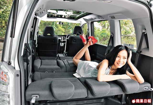 Honda Stepwgn fits an inflatable mattress