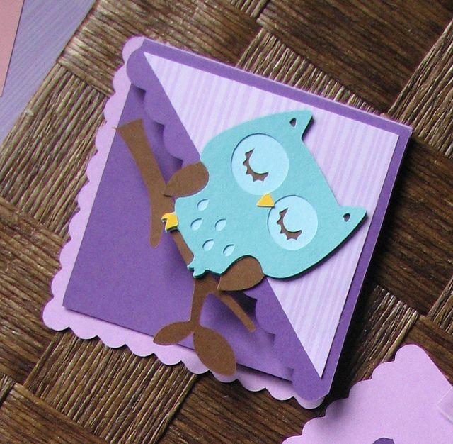 Cricut Bookmark. Owl from Create a Critter.