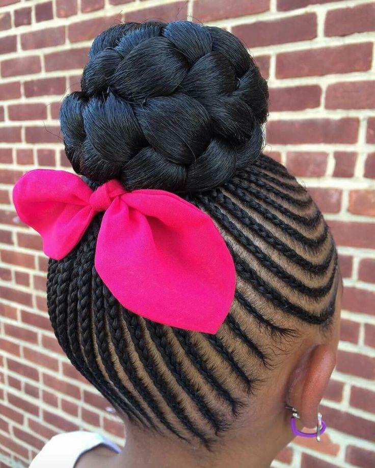 French braids with bun