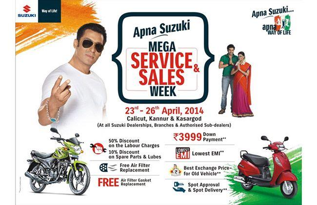 Apna Suzuki Mega Service and Sales week in Kerala
