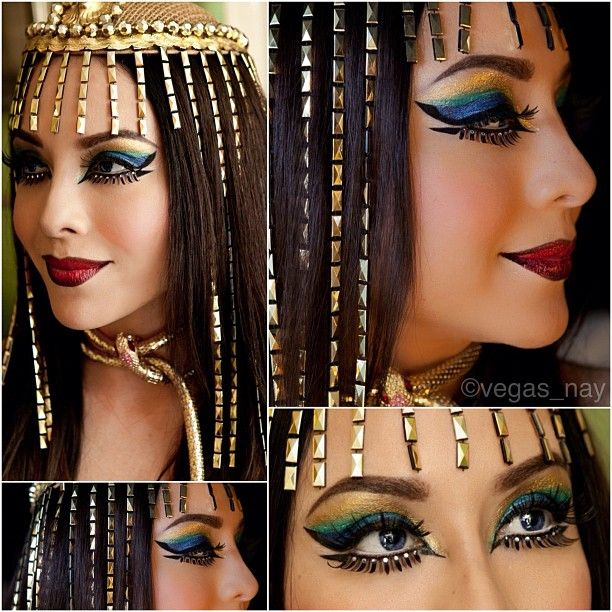#ShareIG Meet Cleopatra ❤✨ Loose Pigments & bottom/top lashes from @sugarpillmakeup ..Eye shape inspired by the new #violenteyes eye tattoos by @Amanda Snelson Clarke Lips Headpiece purchased from Williams Costumes (downtown Las Vegas) which is my little gemwhere I buy my rhinestones and craft, costume materials; EVERTYTHING! It's the very best w/ affordable prices. Let me know if you want specifics on this lk Love my @sugarpillmakeup @sugarpillmakeup @sugarpillmakeup #cleopatra ...