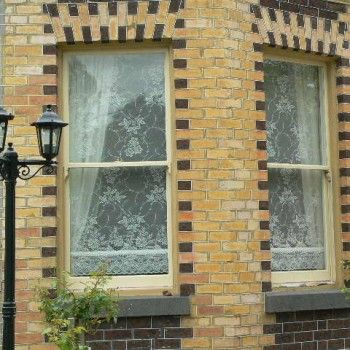 Stiffened Lace Blinds in a house in Williamstown