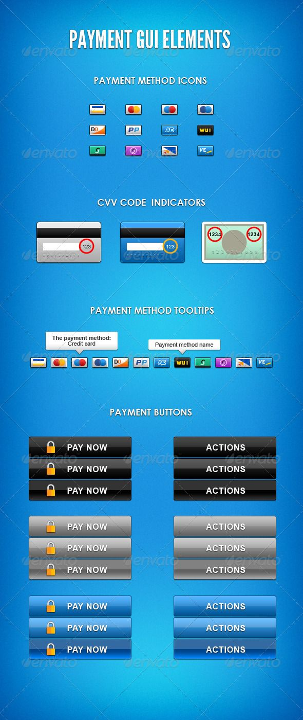 Payment GUI Elements - #User Interfaces Web Elements Download here: https://graphicriver.net/item/payment-gui-elements/628040?ref=alena994