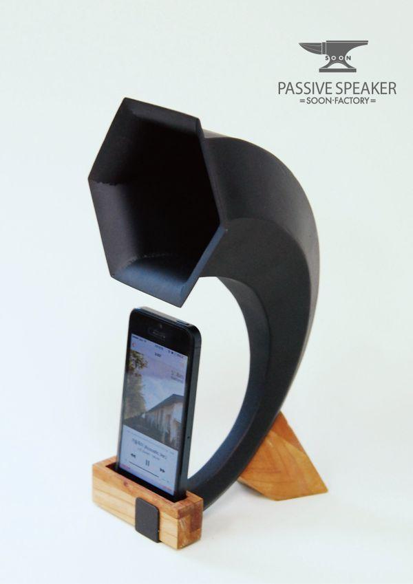Passive speaker for iphone by taesoon hyun, via Behance