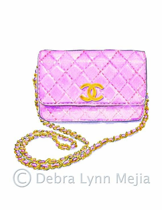 Pink Chanel Purse Print. $20.00, via Etsy.