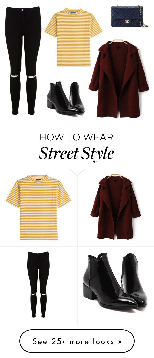 """""""Chic Street Style"""" by natalie3477 on Polyvore featuring Miss Selfridge, M.i.h Jeans, Chanel and stripedshirt"""