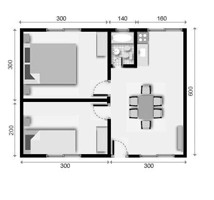 viviendas prefabricadas de 30 mts.2 planos