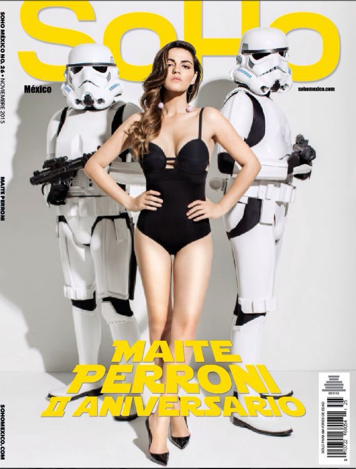 Hot Latina model with Stormtroopers