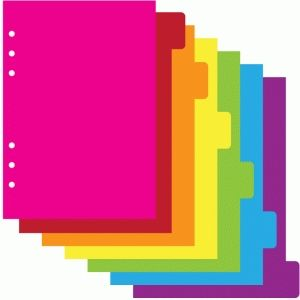 Silhouette Design Store - View Design #75781: a5 6 ring planner 6 tab dividers