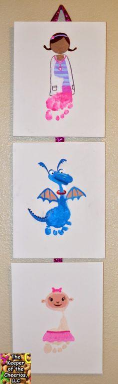 20 personnage inspirés de Disney à peindre avec les pieds d'enfant! - Bricolages - Des bricolages géniaux à réaliser avec vos enfants - Trucs et Bricolages - Fallait y penser !
