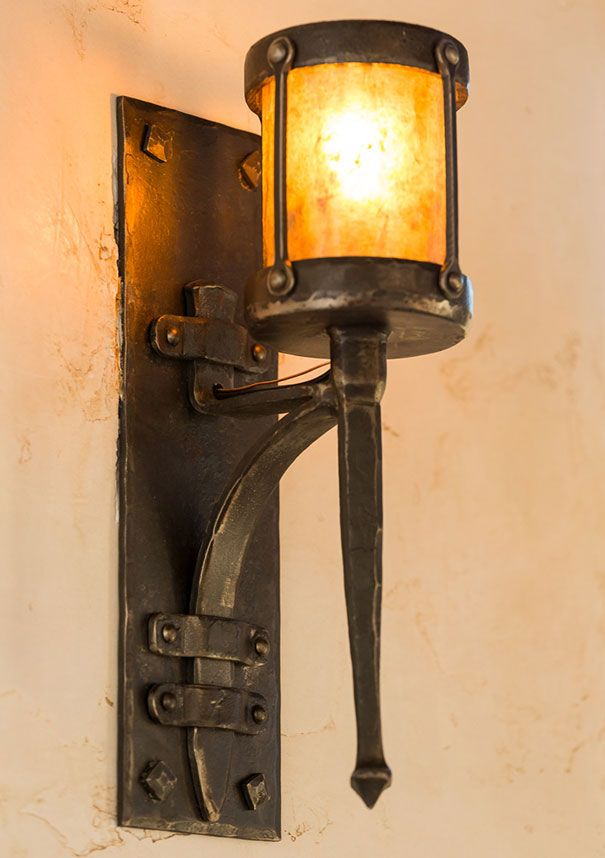 Anvil Mounted Sconce, Hand-forged Steel Light Fixture | Heirloom Hand Forged Design