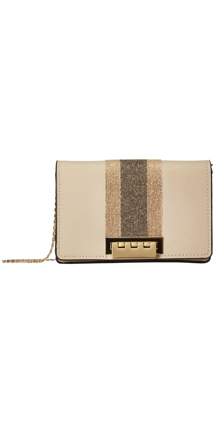 008479926 Walk away, guilty of gorgeous glamour by stealing hearts with this  open-and-shut case, the #ZAC #ZacPosen Earthette Chain Accordion #Crossbody  #bag.
