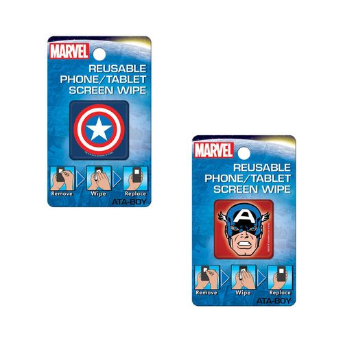 Captain America Reusable Phone/Tablet Screen Wipes