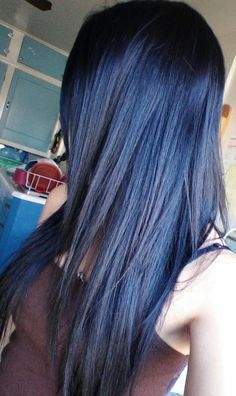 Navy Blue Black Hair Color Google Search