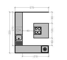 71 best plans aménagement cuisine images on pinterest | open ... - Plan De Cuisine Moderne Avec Ilot Central