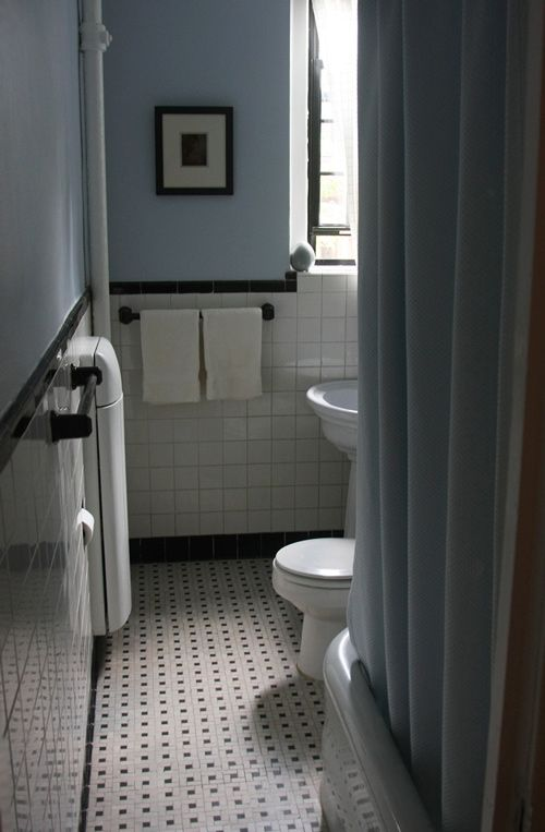 This takes the cake.  Frame in black and add fresh whites.  old bathroom tiles which date from the 1920's