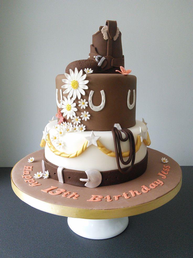 Horse riding, cowgirl birthday cake
