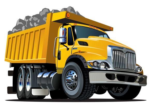 cartoon muldenkipper vektor 03 kostenlose eps datei vector herunterladen name muldenkippe dump truck trucks detailing vektordatei erstellen photoshop möwe