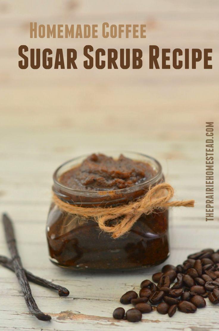 homemade sugar scrub recipe with chocolate and coffee