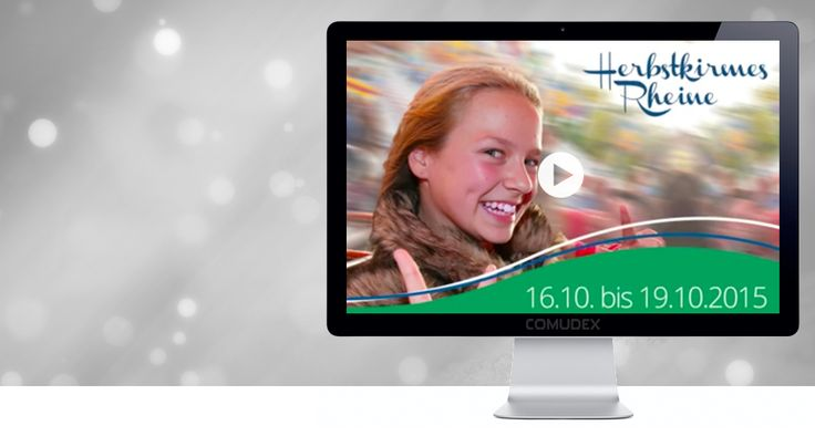 Der Schaustellerverband Weser-Ems betreibt ein Kirmes Veranstaltungsnetzwerk für die Region Weser Ems. Im Rahmen der Marketing-Kooperation mit der Stadt Rheine wurde bei uns ein Videotrailer für den Rheiner Herbstjahrmarkt in Auftrag gegeben. Dieser mittlerweile veröffentlichte Trailer erfreut sich großer Beliebtheit und wurde allein am ersten Wochenende mehr als 4000 Mal angeklickt.  Viel Spaß beim anschauen: https://www.facebook.com/kirmes.rheine/videos/vb.35019906185212