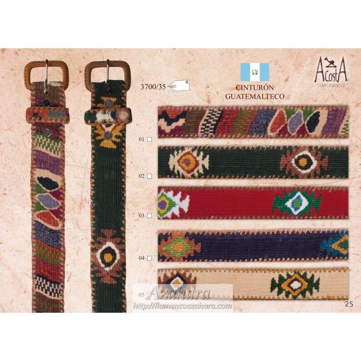 #Cinturón #guatemalteco de #diseño. Unisex. #complementos #moda #flamenca