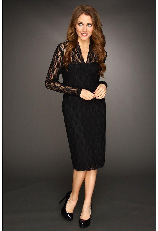 Christin Michaels Sophea Lace Dress Black Funeral Attire