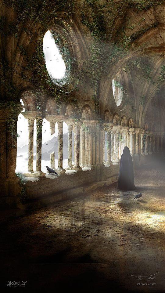 La tirò con sé nei meandri caleidoscopici del suo dominio, dove anche l'oscurità riusciva ad avere centinaia di sfumature diverse, dove persino le ombre avevano delle ombre, e dove la musica vibrante di quell'organo celato nelle profondità risuonava tra le arcate gotiche dell'antica cattedrale. ARDA 2300 - Kronos ed Aion, Due nomi per il tempo