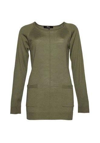 Merino Scoop Neck Pocket Sweater 1