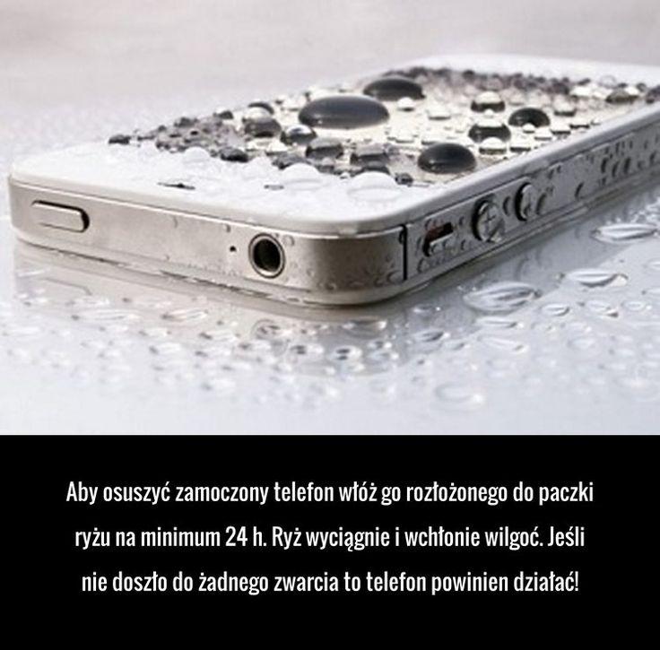 Świetny trik na uratowanie zamoczonego telefonu!