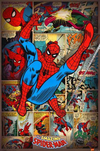Marvel Comics-Spider Man-Retro Posters na AllPosters.com.br