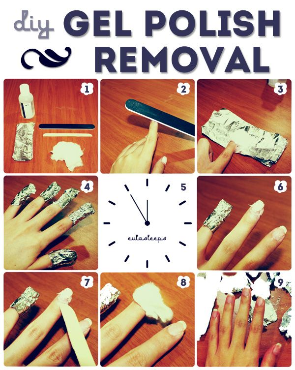 Save money and DIY!    eula sleeps: How to Remove Gel Polish.. Good to know